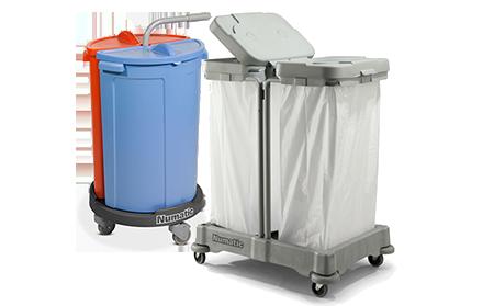 Wózki do segregacji odpadów